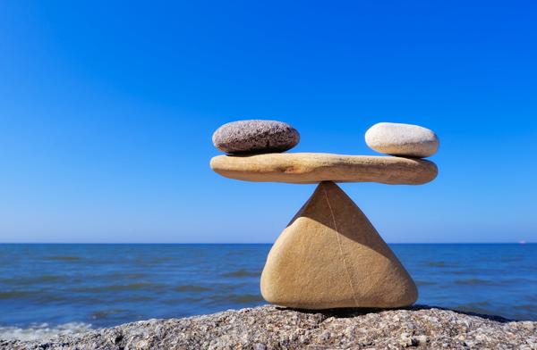 El equilibrio justo de un corpiño